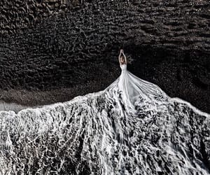 sea, white, and bride image