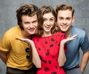 stranger things, natalia dyer, and joe keery image