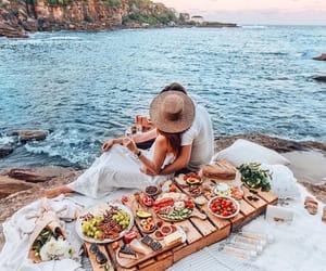 couple, sea, and love image