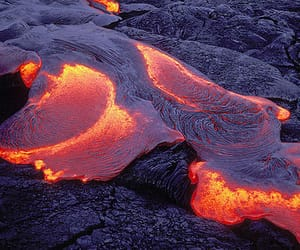 aesthetic, lava, and molten image