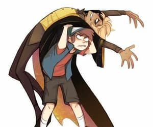 gravity falls, bill cipher, and cartoon image