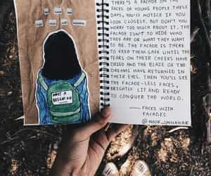 journal, drawing, and quotes image