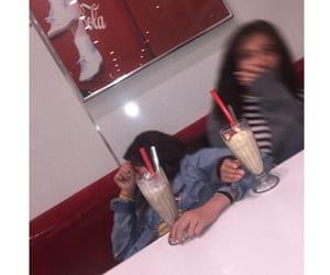 besties, girls, and milkshake image