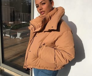 big coat, outfit, and fall image
