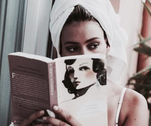 book, girl, and vogue image