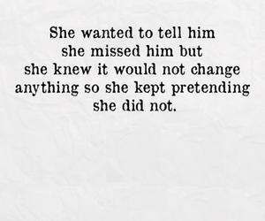 love, sad, and pretending image