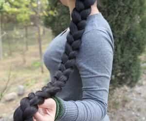 hair, long hair, and مخدرات image