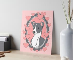 art, dogs, and pink image