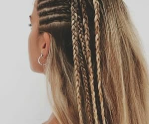 blonde, hair, and braids image