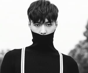 black and white, zhang yixing, and exo image