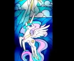 MLP, princess celestia, and stained glass image
