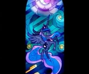 MLP, stained glass, and princess luna image