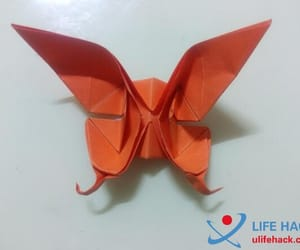 life hack, origami, and origami butterfly image