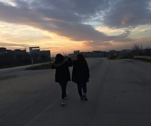 sky, sunset, and bestfriend image