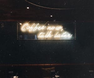 aesthetic, neon, and cafe image