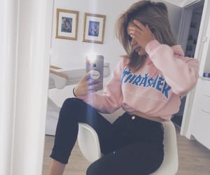 beauty, pink, and trasher image