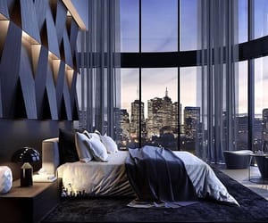 bedroom, amazing view, and interior decorating image