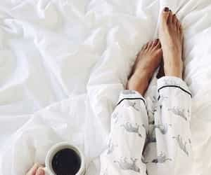 bed, relax, and coffee image