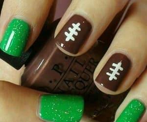 nails, football, and green image