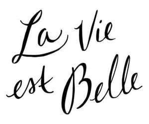 quotes, belle, and la vie est belle image