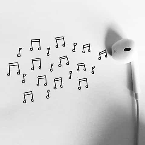 background and earphones image