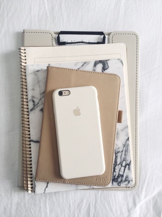 iphone, phone, and notebook image