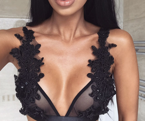 fashion, lingerie, and lips image