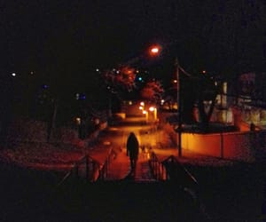 grunge, lonely, and night image