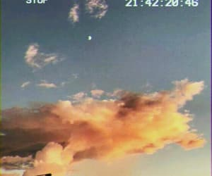 sky vhs clouds, photography moon vintage, and summer art creative image