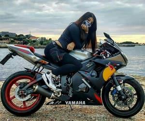 girl, ride, and YAMAHA image