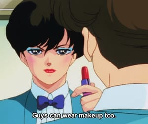 anime, makeup, and retro anime image