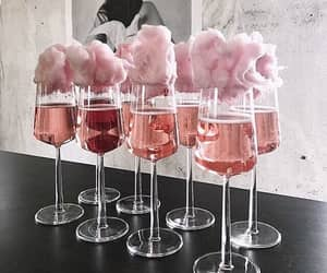 pink, drink, and champagne image