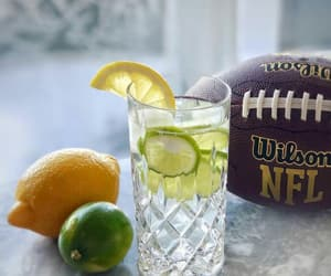 american football, drink, and lemon image