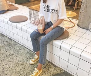 korean fashion, outfit, and kstyle image
