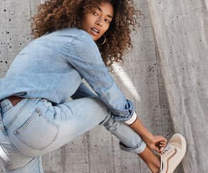 fashion, sneakers, and denim on denim image