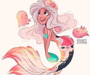mermaid, itslopez, and art image