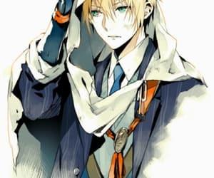 anime boy, yamanbagiri kunihiro, and yellow hair image