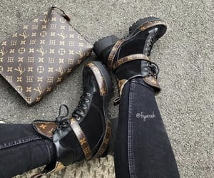 fashion style, boots shoes, and louis vuitton lv image