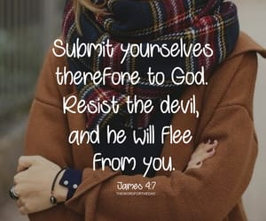 bible verse and resist the devil image