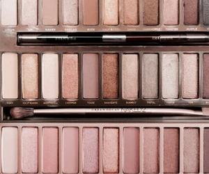 makeup, rose gold, and eyeshadow image