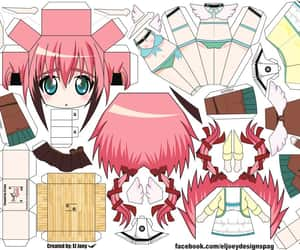 papercraft, sora no otoshimono, and ikaros image