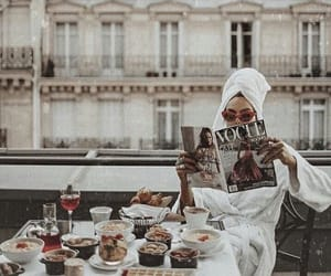 breakfast, vogue, and fashion image
