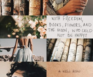 books, bookworm, and flower image