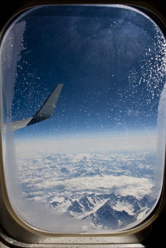 plane, snow, and travel image