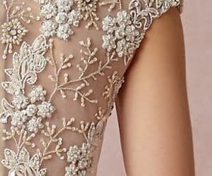delicate, dress, and white image