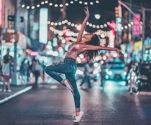 light, girl, and dance image