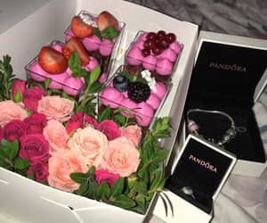 chocolate, roses, and flowers image