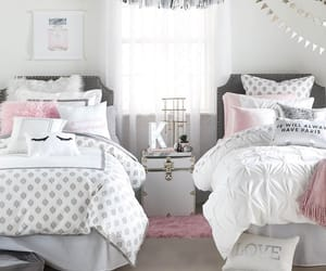 bedroom, bedtime, and decor image