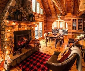 cosy, fireplace, and warm image