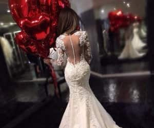 wedding, dress, and girl image